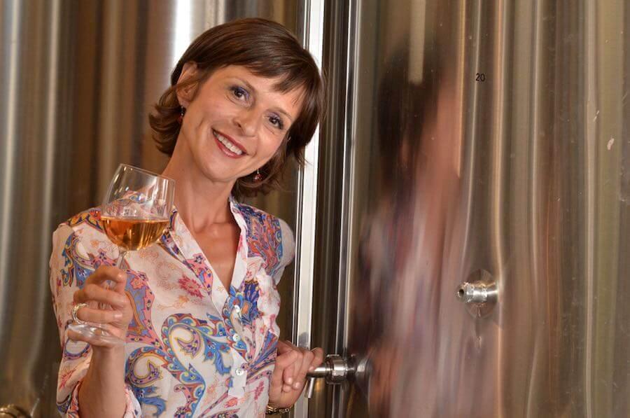 Viktorija Todorovska wine tasting.